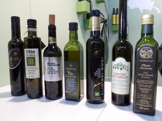 Alcuni oli del Friuli Venezia Giulia