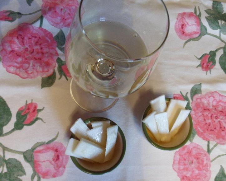 Asparago bianco in pinzimonio