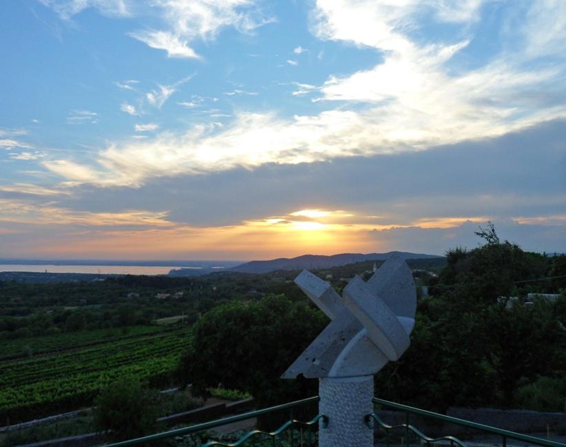 Il tramonto dalla terrazza di Zidarich a Prepotto (TS)