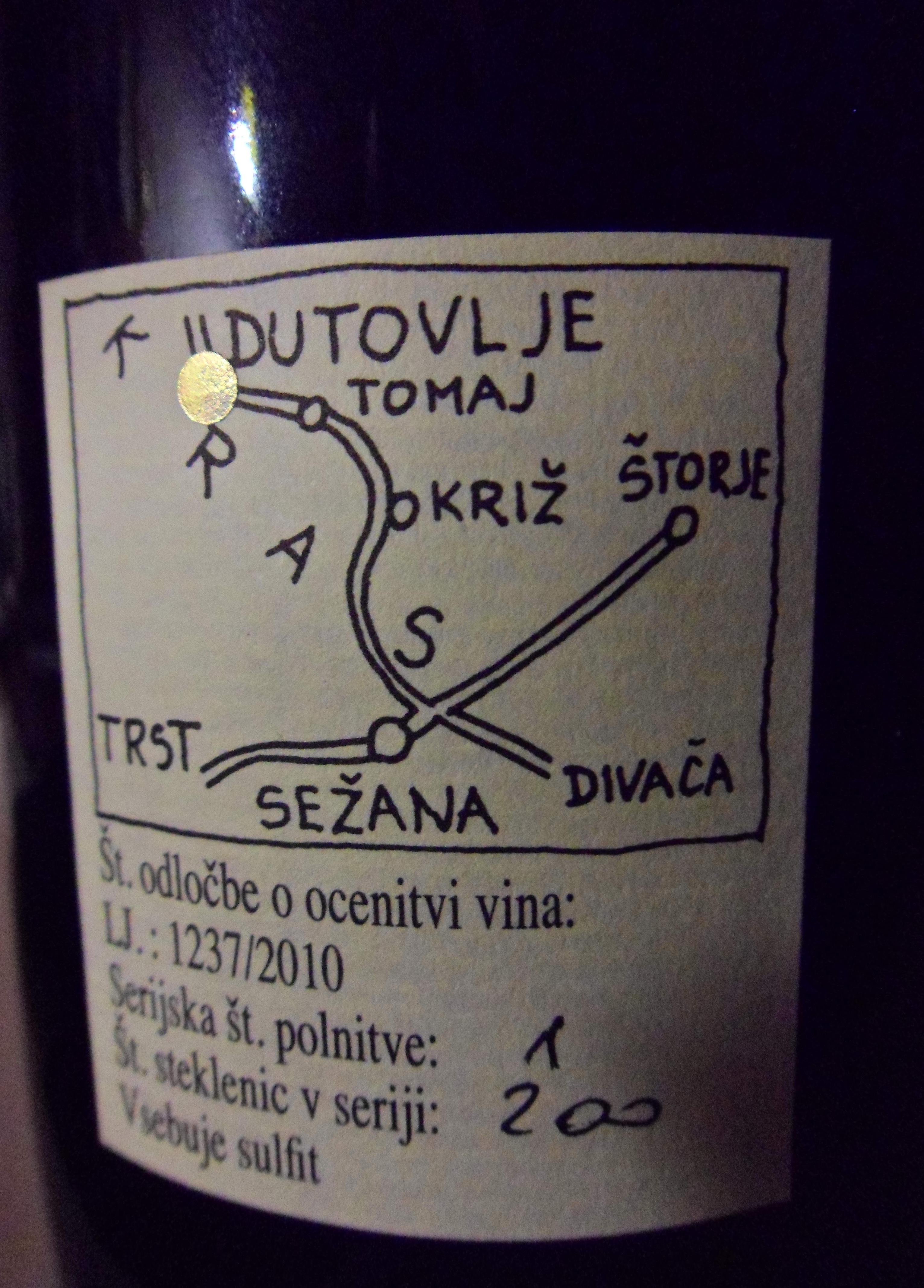 Retroetichetta Terrano 2009 Milivoj Sirca