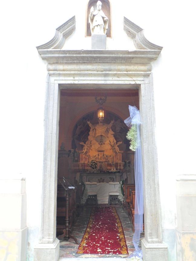 Entrata della cappella della tenuta Codelli