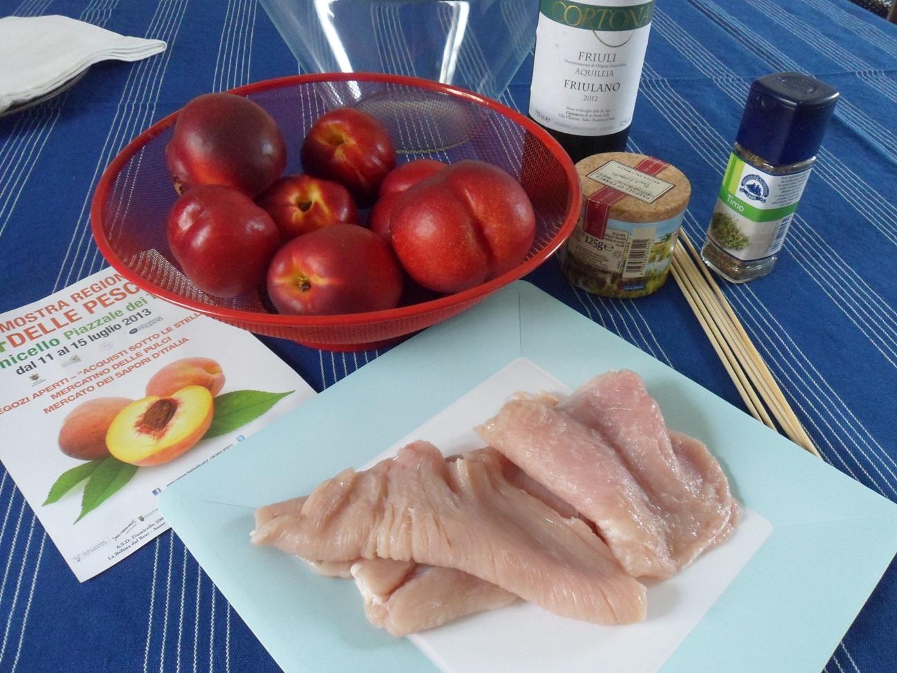 Ingredienti per la pesca nel piatto