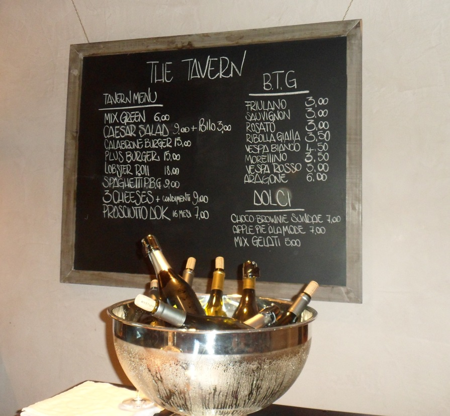 Menu alla Taverna de L'Orsone