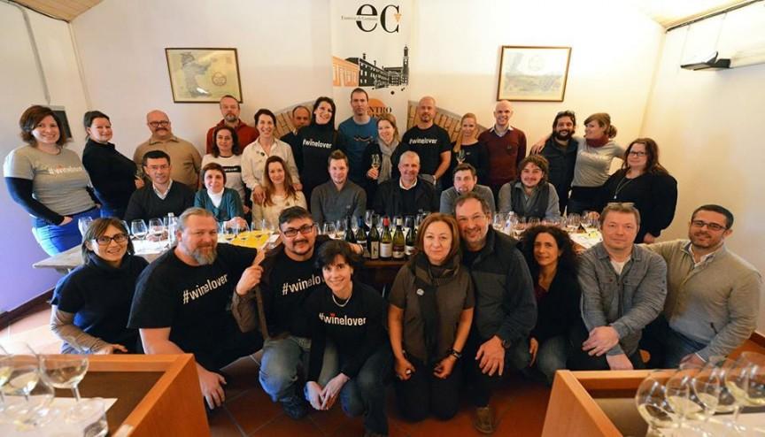 Foto di gruppo per i winelovers