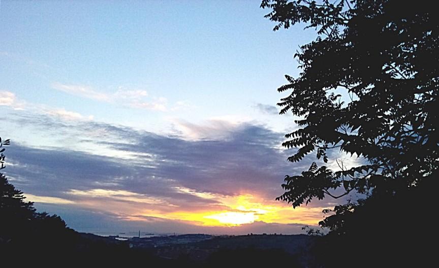 Tramonto su Trieste da Dolina