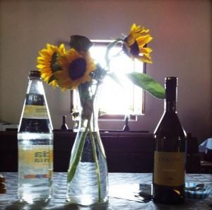 I girasoli in tavola (foto di Sara Rocutto)