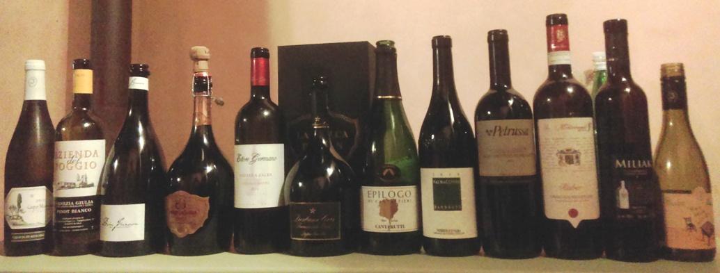 I vini della serata, ce n'è per tutti i gusti!