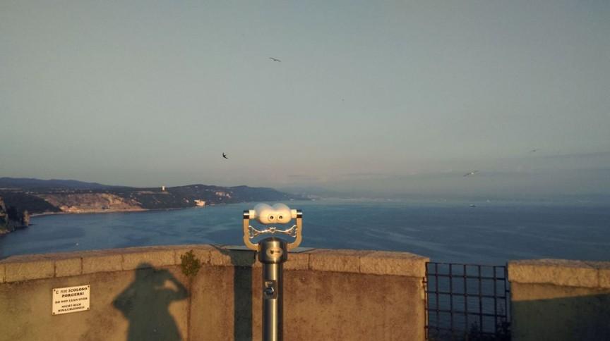 La vista dal Castello di Duino, dove si è svolta Mare e Vitovska