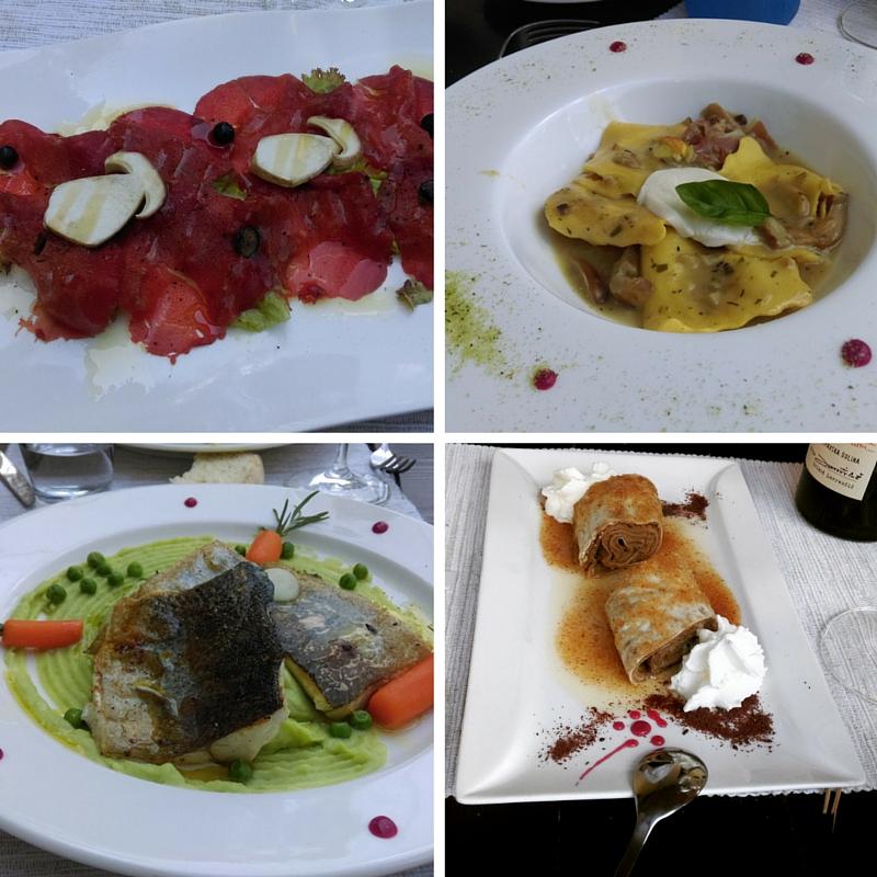 Alcuni piatti del ristorante Podfarovz di Vipava