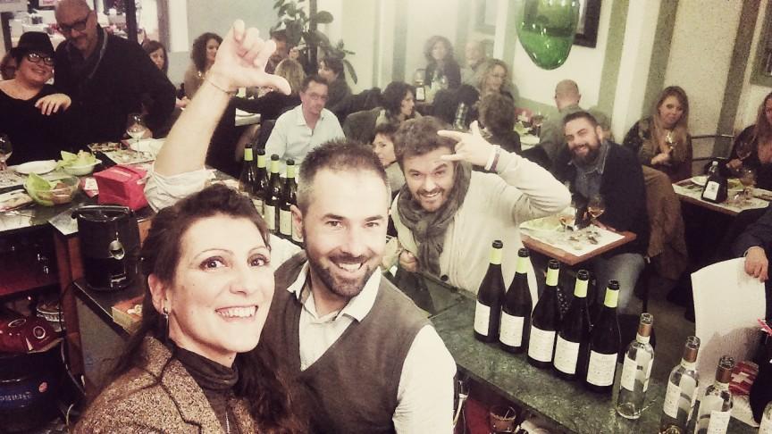 Uno scatto dalla serata formaggi svizzeri e vini friulani a Udine