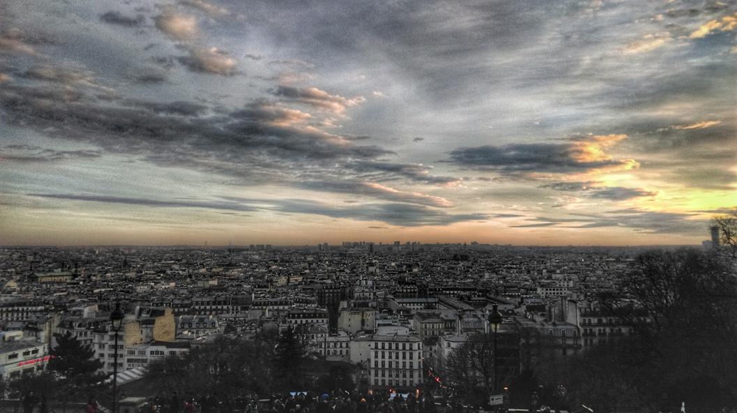 La vista su Parigi da Montmartre