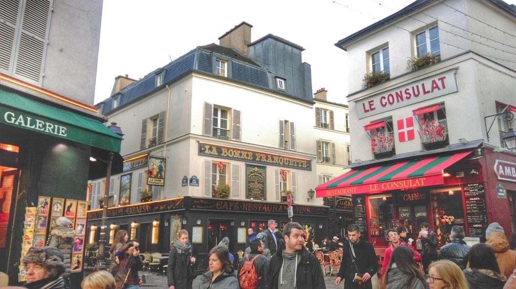 Scorcio del quartiere di Montmartre