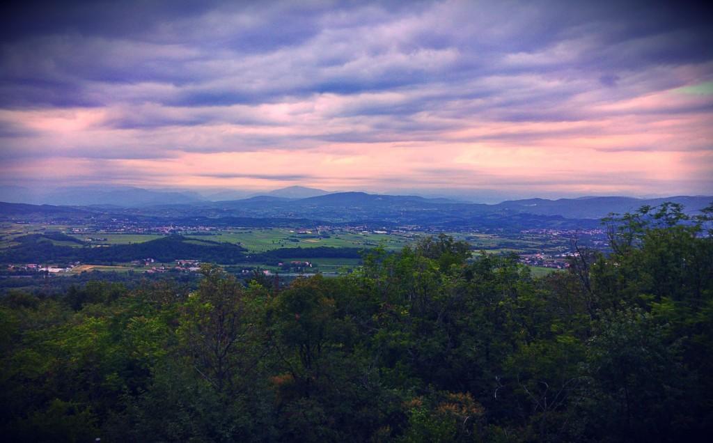 La vista dal Monte San Michele, San Martino del Carso