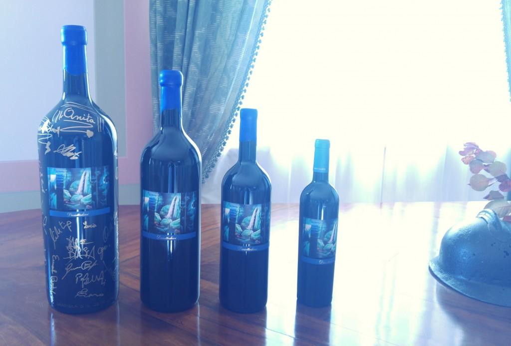 Le bottiglie di Diciottodieci 2016 con l'etichetta di Dare Birsa