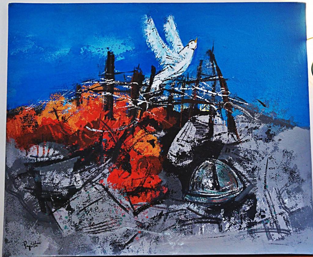 Il quadro di Renzo Pagotto dedicato a Diciottodieci nel 2014
