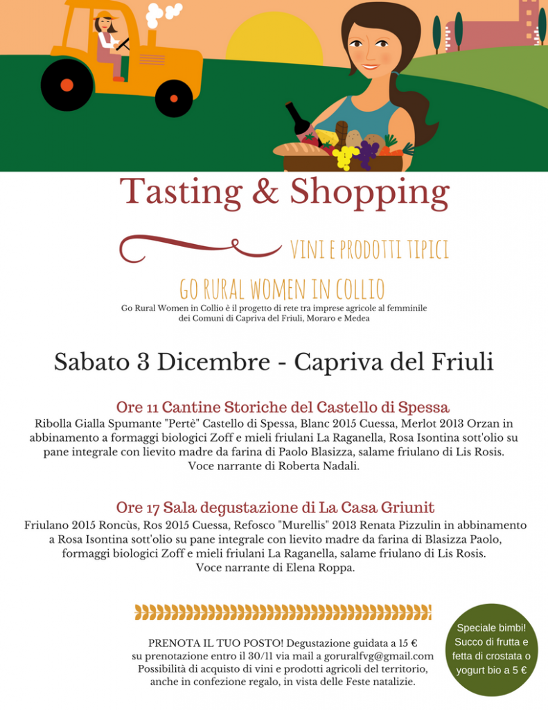 Tasting and shopping a Capriva del Friuli