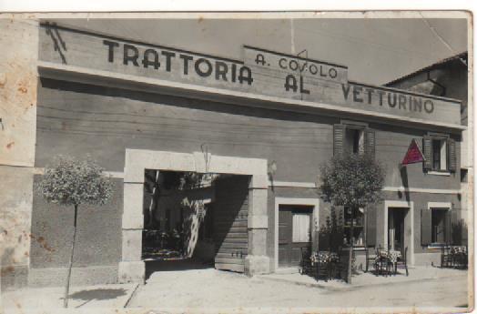 Trattoria Al Vetturino a Pieris negli anni '50